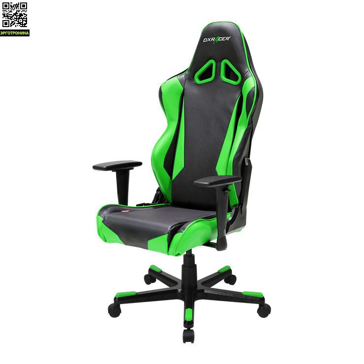 Игровое кресло DxRacer Racing RL1DXRacer Racing (R-серия)<br>Плотный упругий пенный наполнитель.Материал покрытия Винил стилизованный под кожу + Эко кожа.3D подлокотники.Угол качания 3~17.<br>