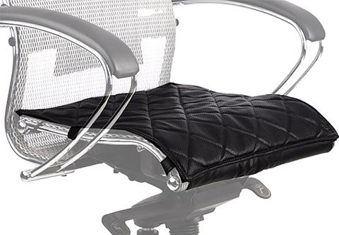 Кожаный перфорированный чехол для кресла Samurai