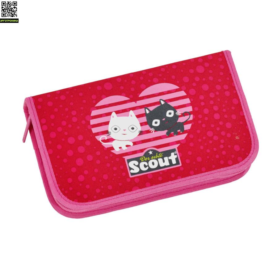 Ранец Scout Sunny BASIC с наполнением 4 предмета - Котята