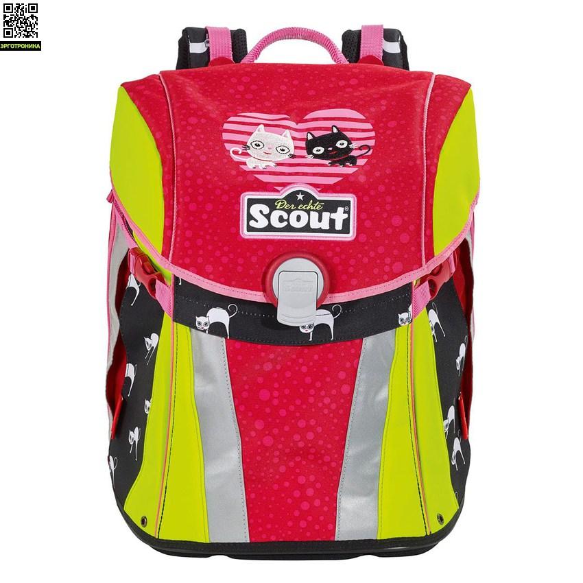 Ранец Scout Sunny BASIC с наполнением 4 предмета - КотятаЛегкие ранцы<br>Школьный ранец Scout Sunny с ортопедической спинкой, регулируемой по высоте, и принципом распределения нагрузки, используемым в спортивной индустрии. При его разработке были учтены абсолютно все существующие сегодня требования эргономики, поэтому ранец на 100% ориентирован на сохранение здоровой спины школьника. Ранец идеально подходит как совсем маленьким ученикам, так и детям 10-11 лет благодаря особой конструкции, позволившей наилучшим образом адаптировать ранец к изменению роста ребенка<br>