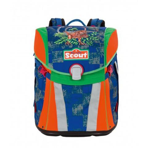 Ранец Scout Sunny BASIC с наполнением 4 предмета - Тиранозавр