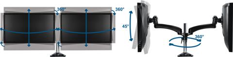 Кронштейн для двух мониторов Arctic Z2-3D