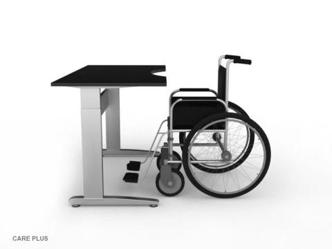 Стол для инвалидов колясочников регулируемый по высоте ErgoStol Care Plus