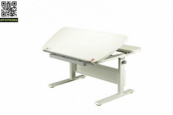 Стол Kids-Master K5-Unique Desk c выдвижной полкойKids-master<br>Стол Unique Desk соответствует требованиям по безопасности, прочности и устойчивости по международным стандартам EN 527-2 и ANSI/BIFMA X5.5-2008.Данная модель отличается функциональностью. В её базовую комплектацию входит большой выдвижной пенал, боковые органайзеры, крючок для портфеля и регулируемый барьер против соскальзывания учебных принадлежностей на пол.<br>