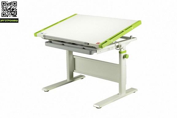 Стол Kids-Master K7-Creative Desk c выдвижной полкойKids-master<br>Стол К7 Creative Desk разработан специально для творчески одаренных детей. Яркий дизайн, функциональность и эргономичность обеспечат комфорт и удобство во время занятий творчеством.<br>Парта легко и плавно настраивается под рост ребенка. С помощью газ-лифта немецкого производства STABILUS, Вы сможете изменять угол наклона столешницы до 45°.<br>