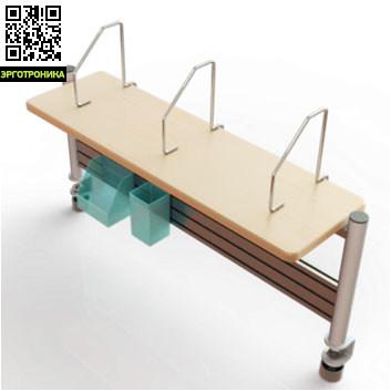 Стеллаж к столам Kids-Master SMART-SSKids-master<br>Металлический каркас;<br>Пластиковые ящички для хранения канцелярии;<br>Подходит к столам K2, K5, K8;<br>