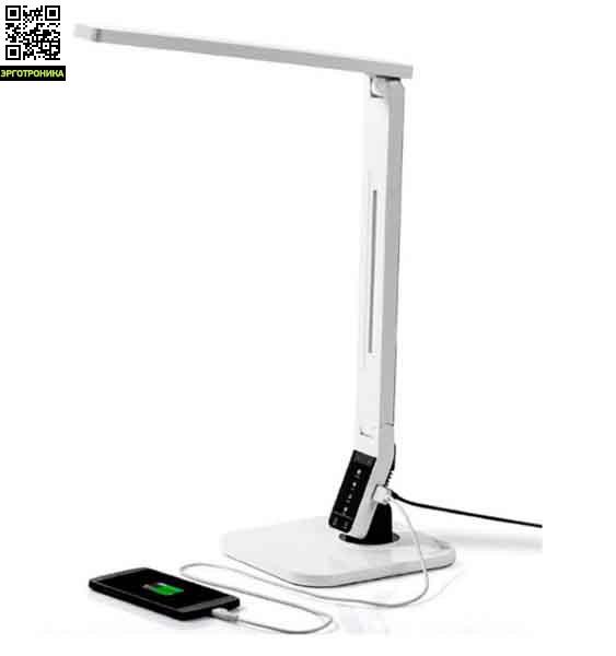 Лампа светодиодная Mealux ML-100Настольный свет<br>Свечение от 2500К до 7000К;<br>USB-порт для зарядки гаджетов;<br>Таймер отключения;<br>