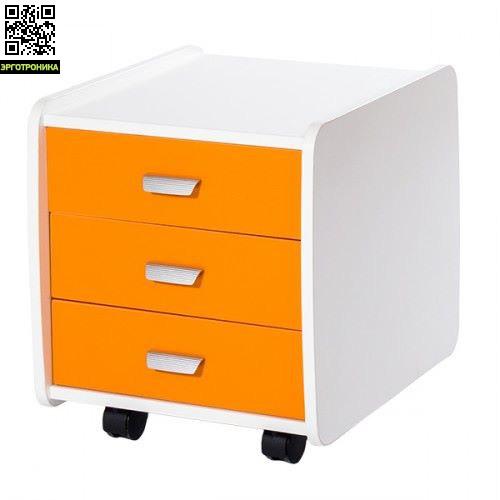 Тумба Астек 3 ящика (Цветные)  Лидер и ЮниорДетская мебель: тумбы, стеллажи, приставки<br>Цвет фасада: береза, яблоня, зелёный, оранжевый, синий<br>
