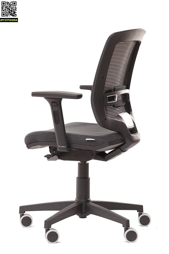 Офисное кресло Evolution EvoTop/P AluЭргономичные кресла<br>Поясничная поддержка<br>Крестовина полированный алюминий<br>Ролики для мягких полов<br>