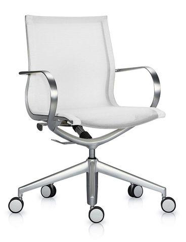 Кресло Mercury LB белая сетка, мат. алюминий