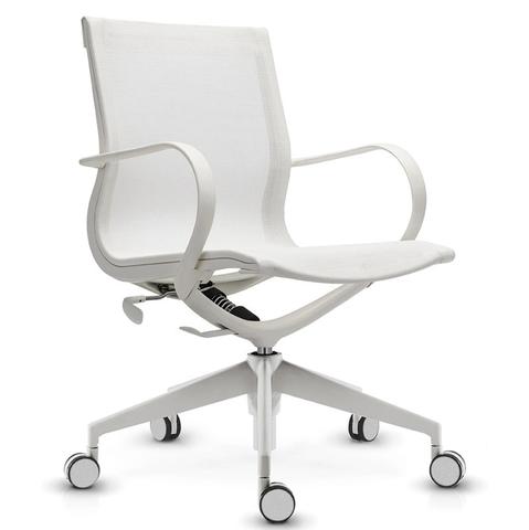 Кресло Mercury LB белая сетка, белый пластик