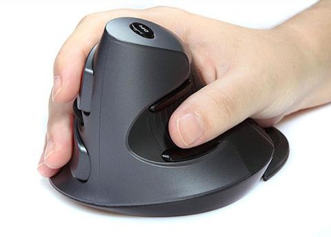 Эргономичная мышь DeLux (беспроводная)