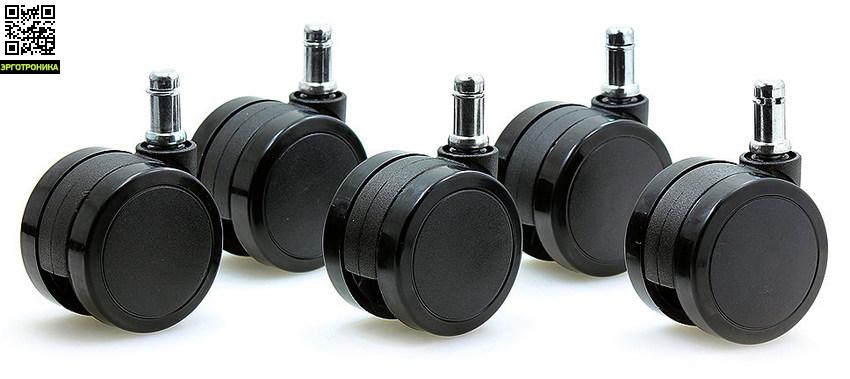 Ролики для твердых полов 3 дюймаКолеса для кресел<br>Колесики для твердых полов 5 шт.<br>