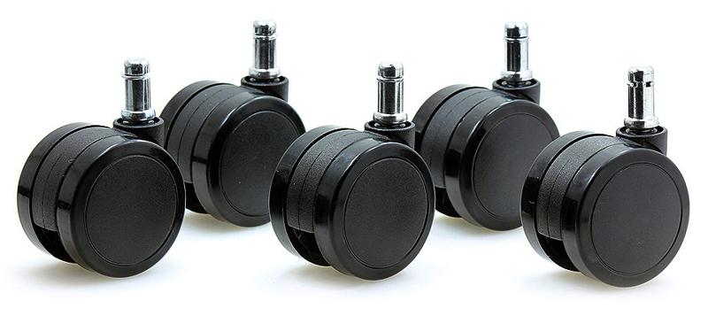 Мягкие ролики для твердых полов (3 дюйма, Шток 11 мм)
