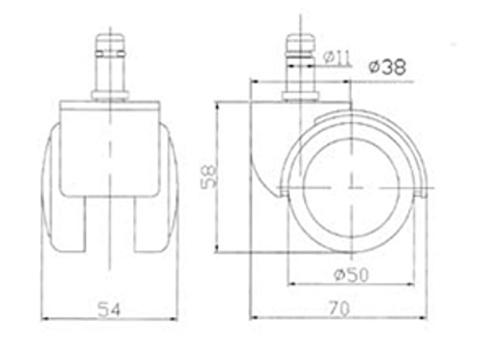 Ролики RSA 705 Полумягкие PU (5 штук)