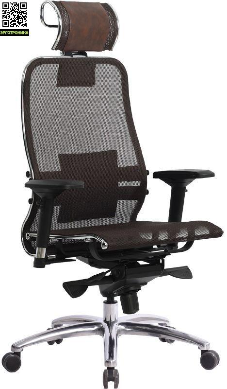 Эргономичное кресло МЕТТА Samurai S-3 (Темно-коричневый) заказать  за 20135 рублей. 6 отзывов, фото, есть в магазине, доставка по Москве и России в Эрготронике
