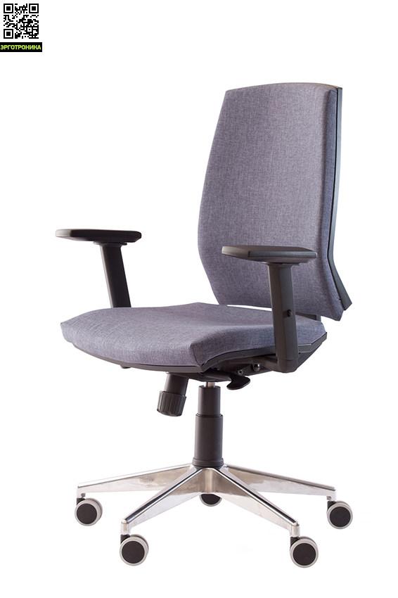 Офисное кресло EvoSinchroЭргономичные кресла<br>Спинка и сиденье в ткани, подлокотники, мезанизм - SINCHRO,<br>крестовина полированный алюминий, или нейлон<br>ролики для мягких покрытий.<br>