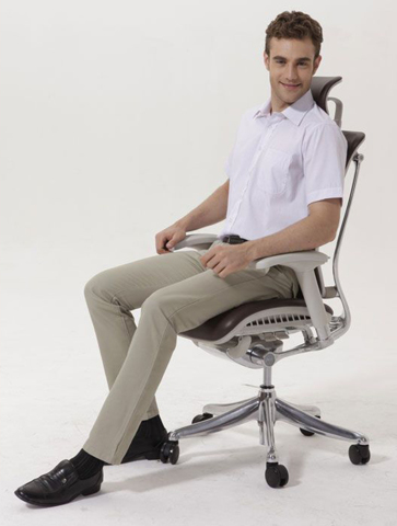 Кожаное кресло для работы Expert Spring Leather