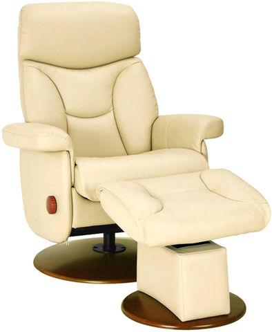Кожаное кресло-реклайнер с механизмом качания Relax Master