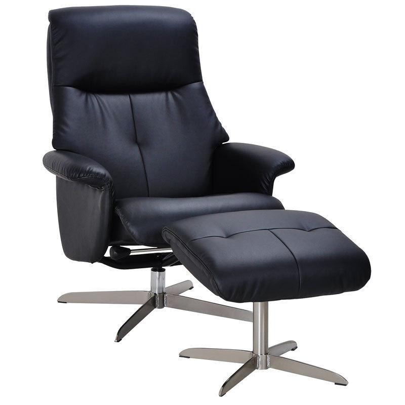 Кресло-реклайнер для кабинета с пуфом для ног Relax Boss