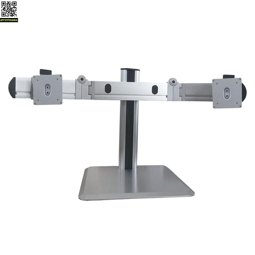 Кронштейн для 2-х LCD/LED мониторов ProSolution-D10Крепления<br>Легкий монтаж при помощи съемной пластины<br>Вращения экрана на ±90° возможность размещения монитора, как в вертикальном, так и в горизонтальном положении<br>