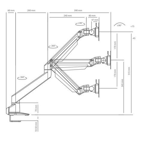 Кронштейн для LCD/LED монитора ProSolution-K1