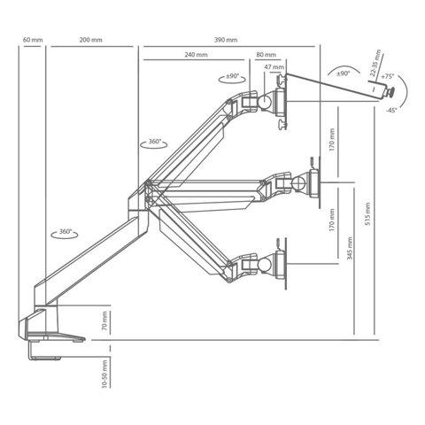 Кронштейн для ноутбуков или LCD/LED мониторов ProSolution-K2