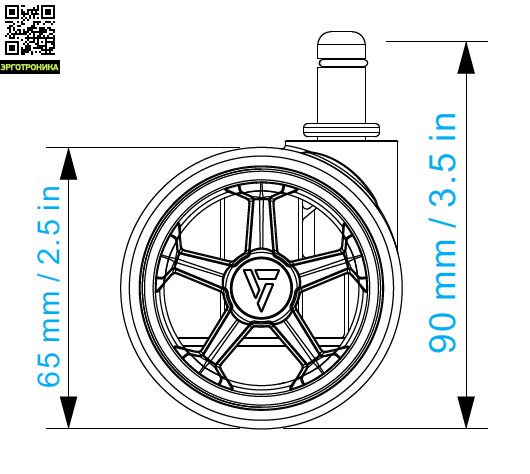 Набор колес АВТОБЛОК Vertagear Racing Series 65мм