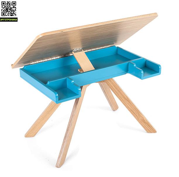Стол Malevich (1,5-5 года), серия ШпонДетские столы и столики<br>Многофункциональный стол, возможность использования в качестве  стола для лепки, чтения, или игры, так и в качестве мольберта для рисования.<br>
