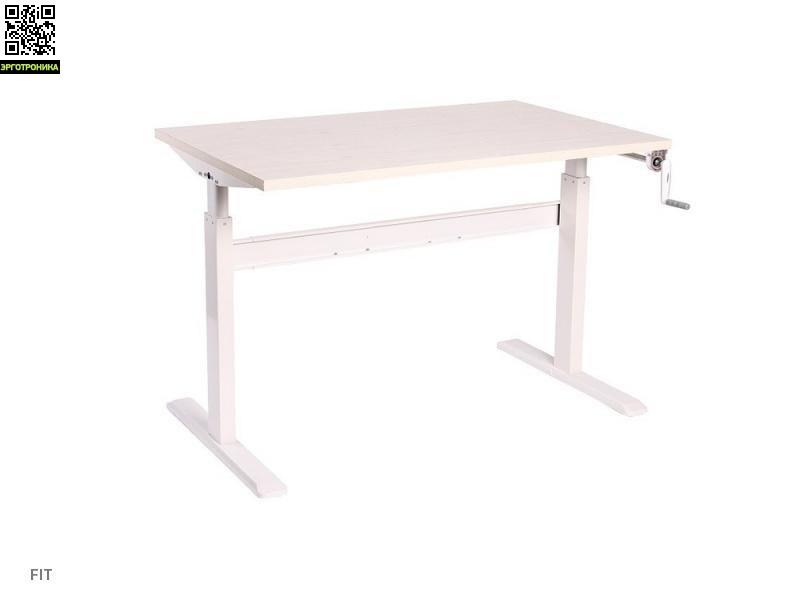 Стол для работы стоя и сидя Ergostol Fit с ручной регулировкой высотыРегулируемые (Стой-сиди)<br>Стол для работы стоя и сидя Ergostol Fit с ручной регулировкой высоты.<br>