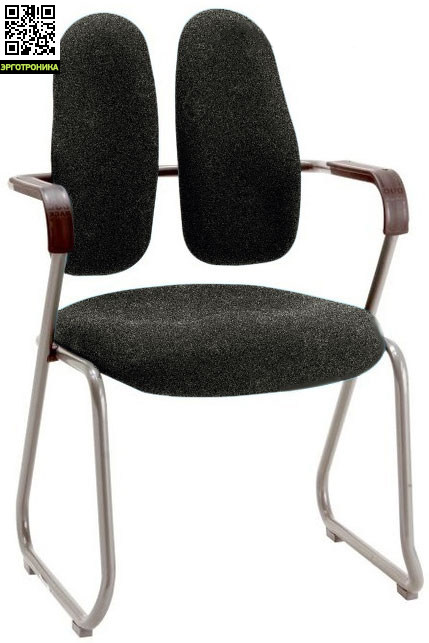 Ортопедический стул для конференций SEMINAR DR-730Кресла для посетителей<br>Система знаменитых двойных спинок Duorest<br>Надежная конструкция<br>Обивка из ткани или эко кожи<br>пластиковые накладки для защиты пола от царапин<br>