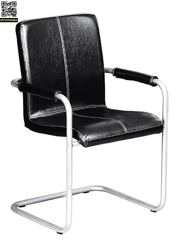 Стул для посетителей и конференц-залов ToledoКресла для посетителей<br>Итальянский стул для посетителей и конференц-залов<br>Исполнен в экокоже<br>Накладки на подлокотниках<br>Простая конструкция стула<br>