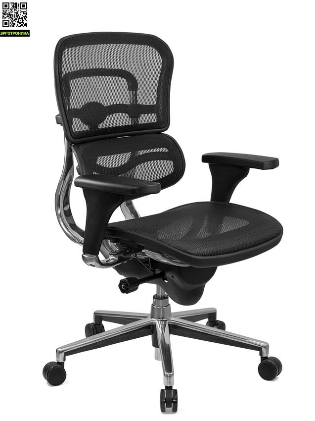 Компьютерное кресло «Ergohuman» без подголовникаЭргономичные кресла<br>Кресло «Ergohuman» относится к классу «High End». Это означает, что оно изготовлено с учетом новейших технологических разработок и принадлежит к наивысшему модельному ряду. Оно привлекает к себе внимание оригинальным дизайном, полным набором эргономических характеристик и обновленным кинематическим функционалом.<br>