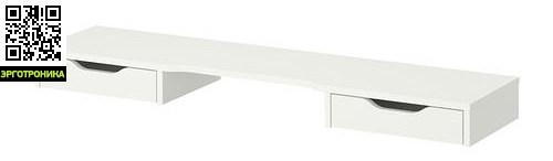 Выдвижные ящики (верхние)Порядок на столе<br>Два вместительных ящика дополнительного модуля с полкой.<br>