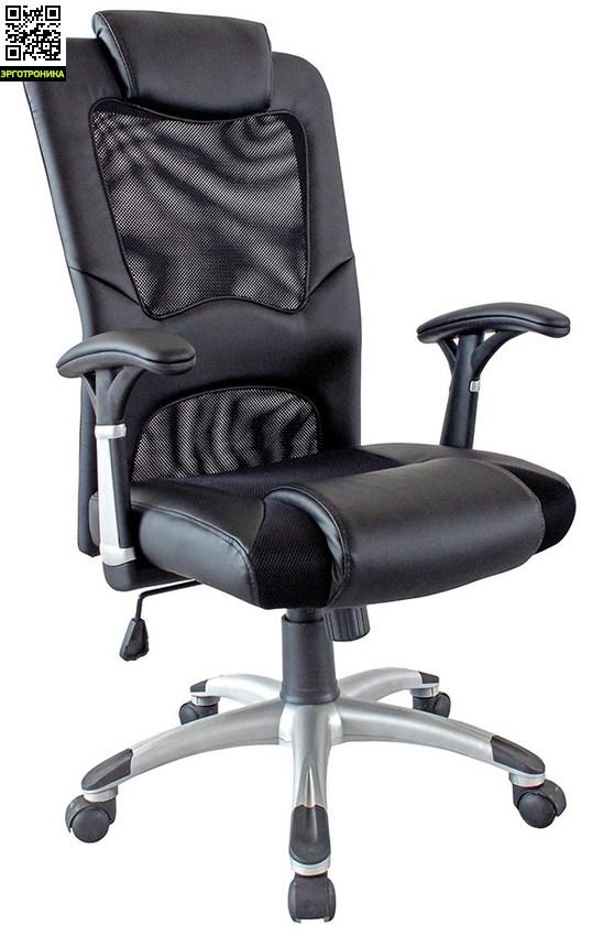 Кресло руководителя VincentКресла руководителя<br>Механизм качания TOP-GUN с фиксацией в двух положениях.<br>Поясничный подпор, подголовник для расслабления шеи и рельефный кант для отдыха ног<br>