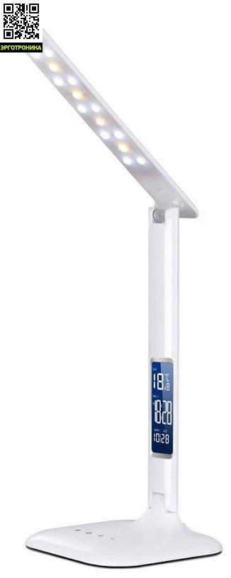 Настольная светодиодная лампа FUNDESK LC1Настольные лампы для школьников<br>Настольная светодиодная лампа.<br>3 варианта цветовой температуры (2800-3300К, 4000-4500К, 5000-5500К). <br>Регулировка яркости свечения (5 режимов).<br>Лампа имеет календарь, часы  и встроенный термометр.  <br>Мощность - 4 Вт<br>Яркость - 800 lux<br>