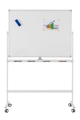 Мобильная доска белая вращающаяся с лаковым покрытием, Office level 1800х1200мм
