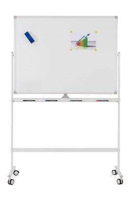 Мобильная доска белая вращающаяся с лаковым покрытием, Office level 2400х1200мм