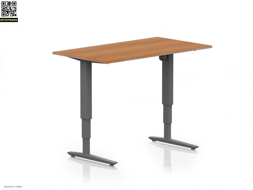 Стол стой/сиди Ergostol TonusСтолы<br>Колонны имеют прямоугольную форму, что значительно увеличивает жесткость конструкции и повышает плавность хода. Рамы окрашены износостойкой порошковой краской серебристого, белого или черного цвета.<br>