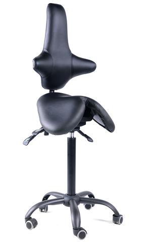 Кресло-седло со спинкой EZSolo Back