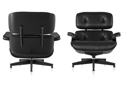 Кресло Eames Style Lounge Chair & Ottoman Total Black Limited Edition