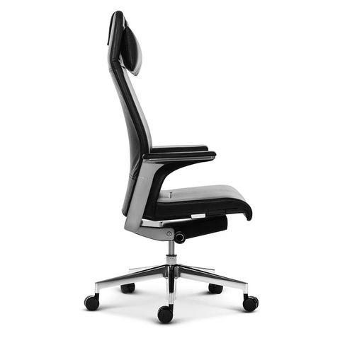 Эргономичное кресло руководителя Match HB черная кожа