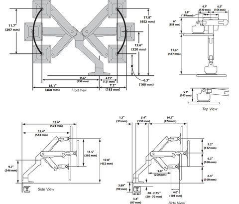 Ergotron HX настольный кронштейн для монитора до 42
