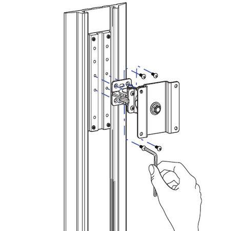 Ergotron Кронштейн на рельс для гибких креплений и шарниров 97-091