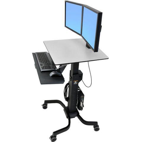 Ergotron WorkFit-C Мобильное рабочее место для двух мониторов 24-214-085