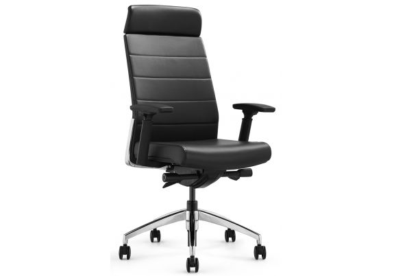 Кресло руководителя Andico HB (черная кожа)