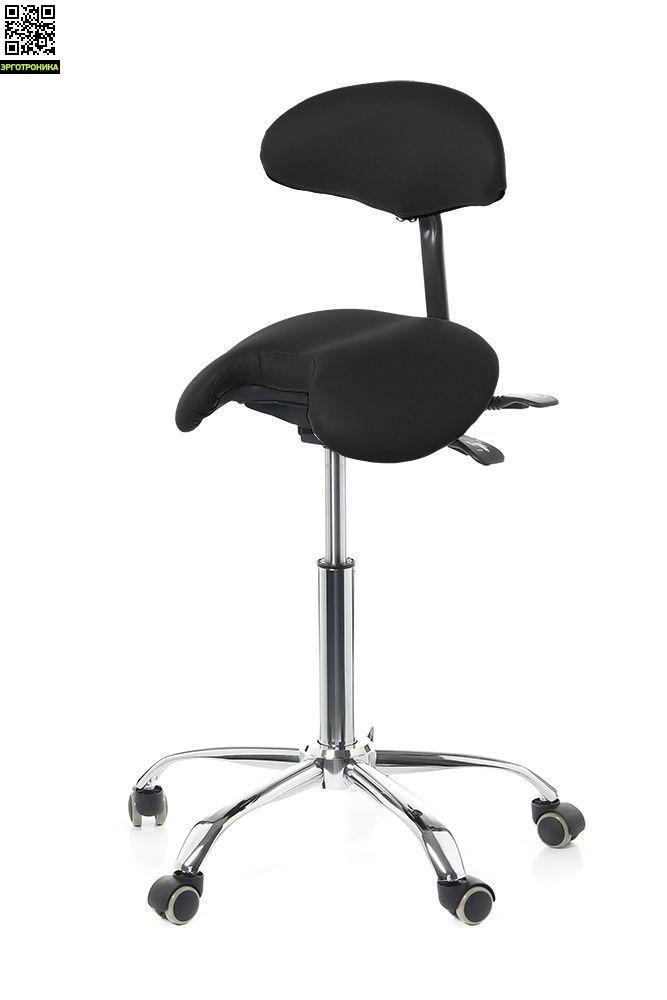 Мужской стул-седло Smartstool SM03B со спинкой (Черный) купить  за 13850 рублей. 2 отзыва, фото доставка по Москве и России в Эрготронике