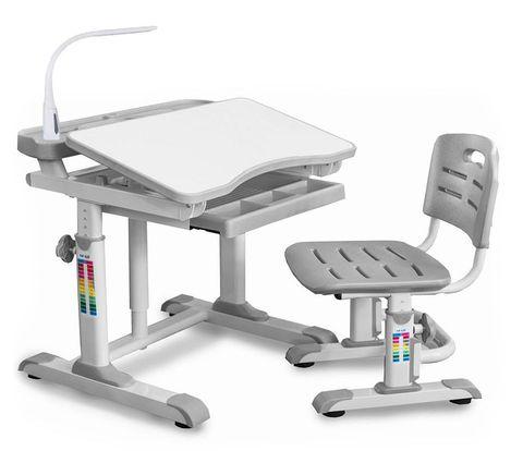 Комплект парта и стульчик Mealux BD-09 XL (с лампой)