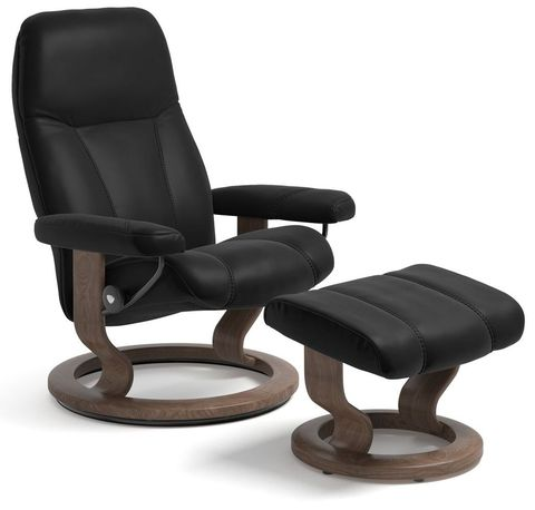 Кресло-реклайнер с пуфом для ног Consul Classic Set