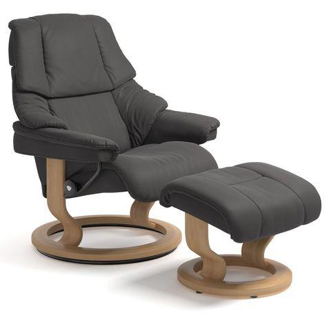 Кресло-реклайнер с пуфом Reno Classic Set